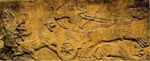 Assurbanipal cazando leones. Museo Británico