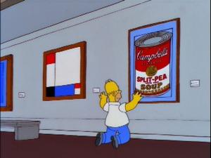 Nadie disfruta de Warhol tanto como Homer. Fuente: simpsons.wikia.com