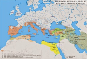 Imperio romano en la segunda mitad del siglo II A.C.