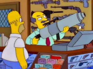 Homer comprobando el género. Fuente: thesimpsonsforever.tumblr.com