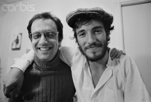 ca. 1974, Cambridge, Massachusetts, USA --- Bruce Springsteen and Jon Landau --- Image by © Jeff Albertson/CORBIS