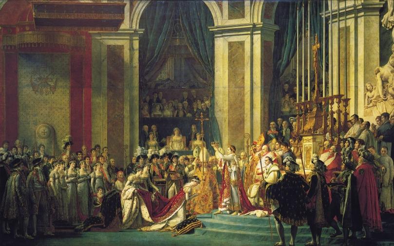 Coronación de Napoleón (1805-1807), por Jaques Louis David
