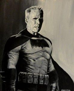 Fanart de Eastwood caracterizado como Batman. Fuente: lee-howard-art.devianart.com