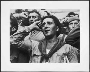 museo reina sofia. Despedida das B.I. Montblanch, preto de Barcelona 25 de outubro do 38