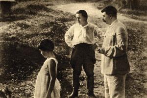 Sergei Kirov and Joseph Stalin in Sochi, 1934