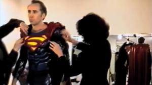 Nicolas Cage con el traje de Superman. Fuente: nerdist.com