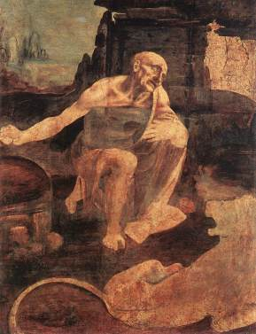 ''San Jerónimo'', hacia 1480-82. Óleo sobre madera, 103 x 75 cm. Roma, Pinacoteca Vaticana.