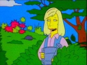 Linda McCartney en el jardín de Apu. Fuente: fanpop.com