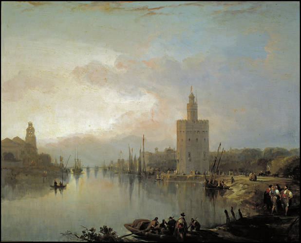 The_Guadalquivir_and_the_Golden_Tower_by_David_Roberts