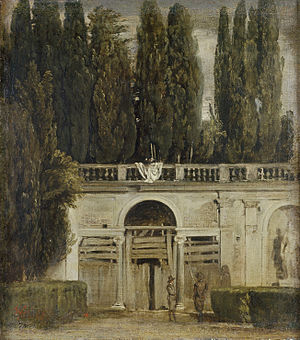 Vista del jardín de la Villa Médicis, en Roma. Fuente: Wikimedia Commons