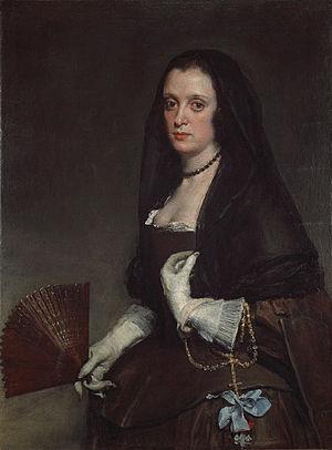 La dama del abanico (1640). Fuente: Wikimedia Commons